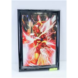 FRAMED THE FLASH PRINT, SIGNED HUGH ROOKWOOD