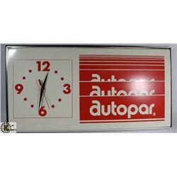 VINTAGE AUTOPAR WALL CLOCK.