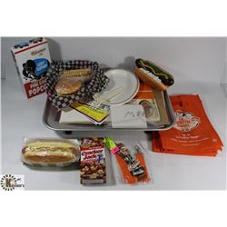 UNIQUE  A & W COLLECTOR SET WITH TRAY, FOOD PROPS