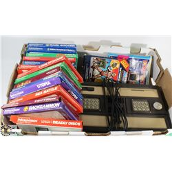 EARLY 1980'S INTELLIVISION GAME SYSTEM W/ 15 - 20