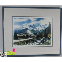 FRASER HINE SIGNED FRAMED & MATTED THREE SISTERS
