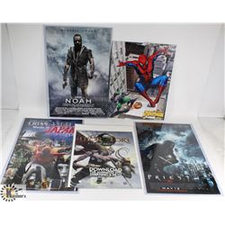 LOT OF ASSORTED POSTERS AND SPIDERMAN PUZZLE