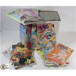 BOX OF ASSORTED MANGA  COMICS