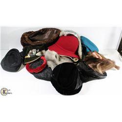 BOX OF VINTAGE HATS