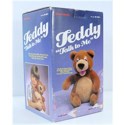TEDDY TALK TO ME VINTAGE BEAR IN BOX