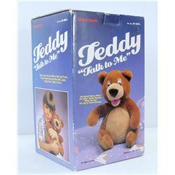 TEDDY TALK TO ME VINTAGE BEAR IN BOX