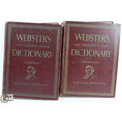 2 VOLUME WEBSTERS NEW TWENTIETH CENTURY