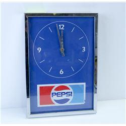 PEPSI WALL CLOCK.