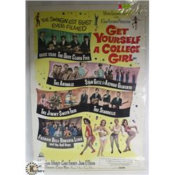 ORIGINAL 1960S ROCK AND ROLL MOVIE POSTER 'GET