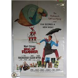 ORIGINAL 1960S DISNEY SON OF FLUBBER POSTER.