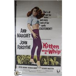ORIGINAL 1960S KITTEN WITH A WHIP MOVIE POSTER