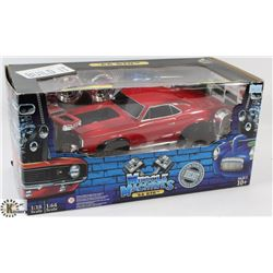 MUSCLE MACHINES '66 GTO 1:18 SCALE DIE CAST CAR.