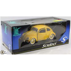 PRESTIGE SOLIDO YELLOW BUG DIE CAST CAR.