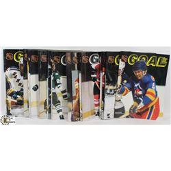 "20 ISSUES OF 1981 ""GOAL"" NHL MAGAZINE"