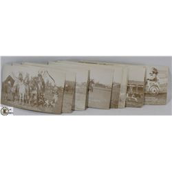 24 POSTCARDS OF 1ST CALGARY STAMPEDE 1912.