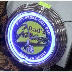 "NEW NEON LIGHT UP SIGN "" IF IT'S BROKE CALL DAD..."