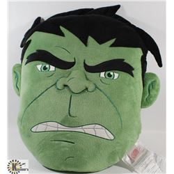 NEW HULK HEAD PILLOW WITH PJ POCKET