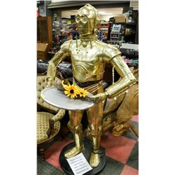 6FT C3PO FIGURE WITH TRAY.