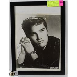 ELVIS PRESLEY SIGNED HEADSHOT. PHOTO HAS SOME