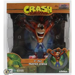 "CRASH BANDICOOT 9"" PVC PAINTED STATUE."