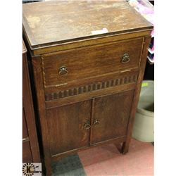 VINTAGE MID 1930S SEWING MACHINE CABINET,