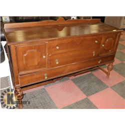 ANTIQUE SIDEBOARD, MADE IN CANADA BY PEPPLER BROS