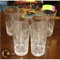 6 CRYSTAL TUMBLER GLASSES.