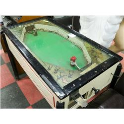 1920 COIN OPERATED TABLE TOP HOCKEY GAME, WORKING,