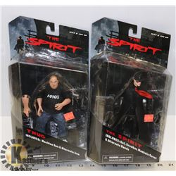 LOT OF 2 THE SPIRIT ACTION FIGURES.
