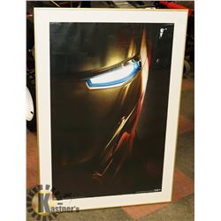 IRON MAN POSTER IN FRAME