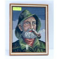 "SEAMAN IN GREEN SMOKING PIPE 12"" X 15.5"""