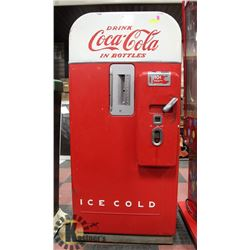 1950S VENDO 39 COCA COLA COOLER, ORIGINAL PAINT,