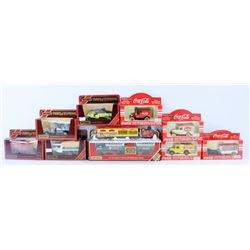 FLAT OF ASSORTED DIE CASTS INCL COCA COLA,