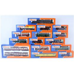 FLAT OF ASSORTED MODEL TRAIN CARS.