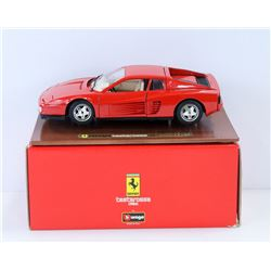 1984 FERRARI TESTAROSSA DIE CAST CAR.