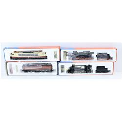 FLAT OF ASSORTED MODEL TRAINS. ROCO HO SCALE
