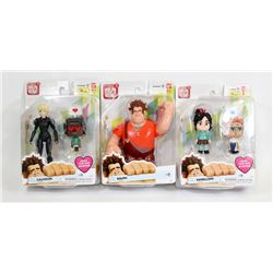 LOT OF 3 WRECK IT RALPH FIGURES.