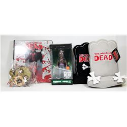 LOT OF THE WALKING DEAD COLLECTIBLES.