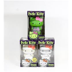 LOT OF 3 HELLO KITTY VINYL FIGURES.