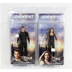 LOT OF 2 DIVERGENT FIGURES - TRIS & FOUR.