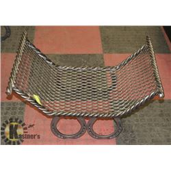 RECTANGLE TWISTED STEEL/MESH HORSE SHOE FIRE