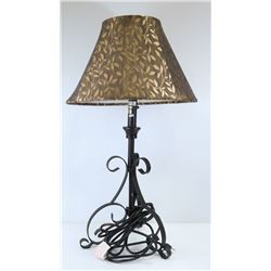 HEAVY DUTY BROWN METAL LAMP W/HEAVY