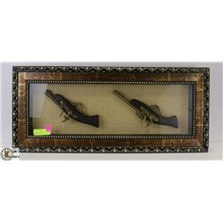FRAMED DECORATIVE SHADOWBOX REPLICA PISTOL DISPLAY