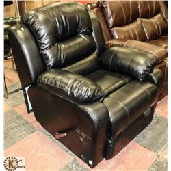 NEW BLACK LEATHERETTE RECLINING SOFA CHAIR 36""