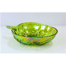 XL CARNIVAL GLASS BOWL WITH GRAPE DESIGN