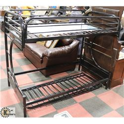 METAL FRAMED BUNK BED AS IS.