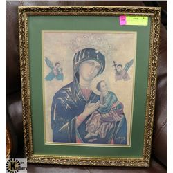 ORNATE FRAMED RELIGIOUS ICON.
