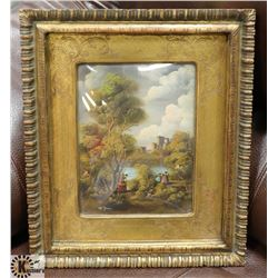 ANTIQUE EUROPEAN ORIGINAL SIGNED PAINTING WITH