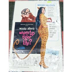 ORIGINAL 1960S WHAT'S UP TIGER LILY MOVIE POSTER