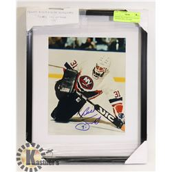 """FRAMED BILLY SMITH AUTOGRAPH """"HOCKEY HALL OF FAME"""""""